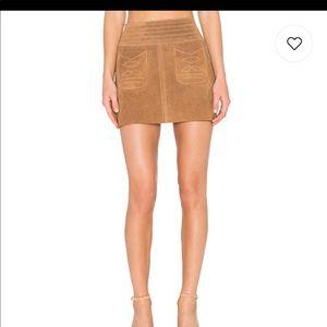 ✨NWT Free People Tan Boho Love Skirt 100% Leather✨